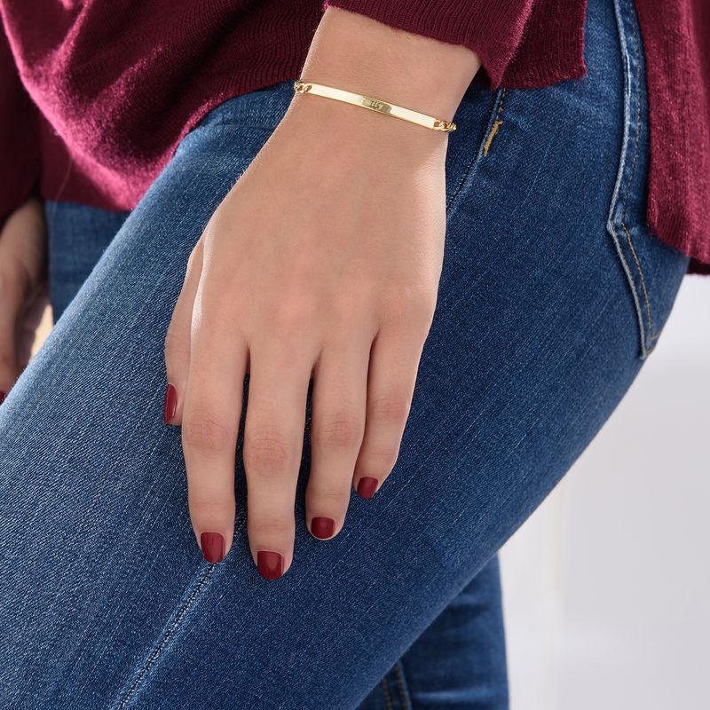 Gullbelagt ID-armbånd for kvinner - 3