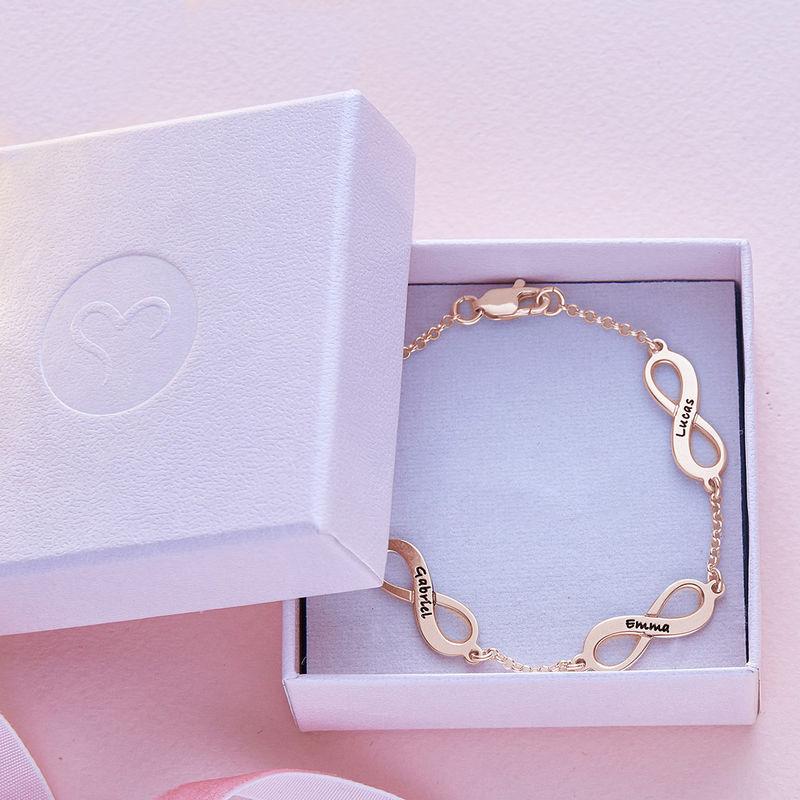 Flere Infinity-armbånd med gullbelegg - 5