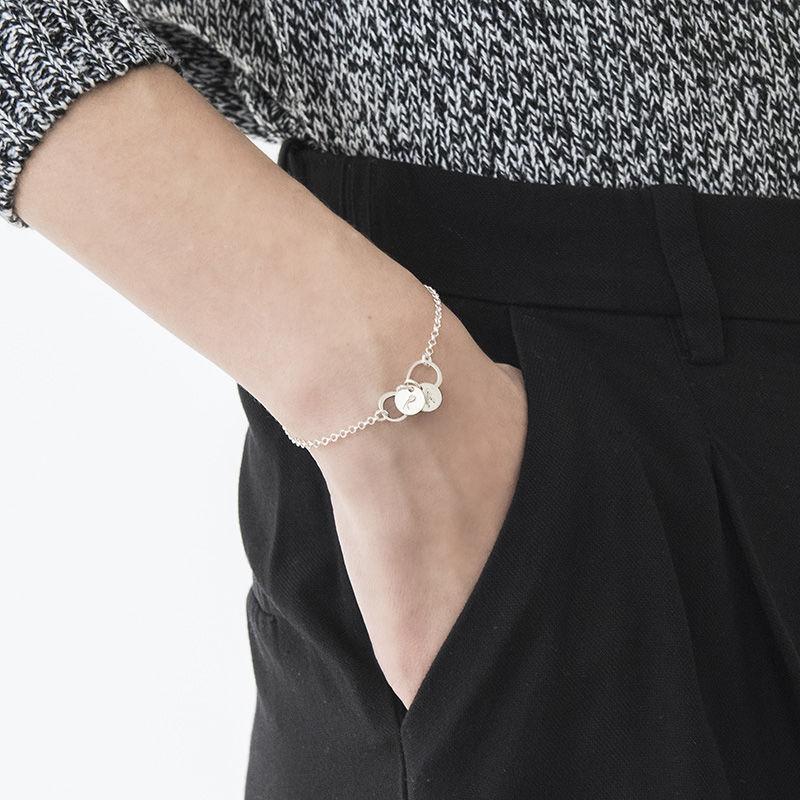 Infinity-armbånd / ankelbånd med bokstav i sølv - 2