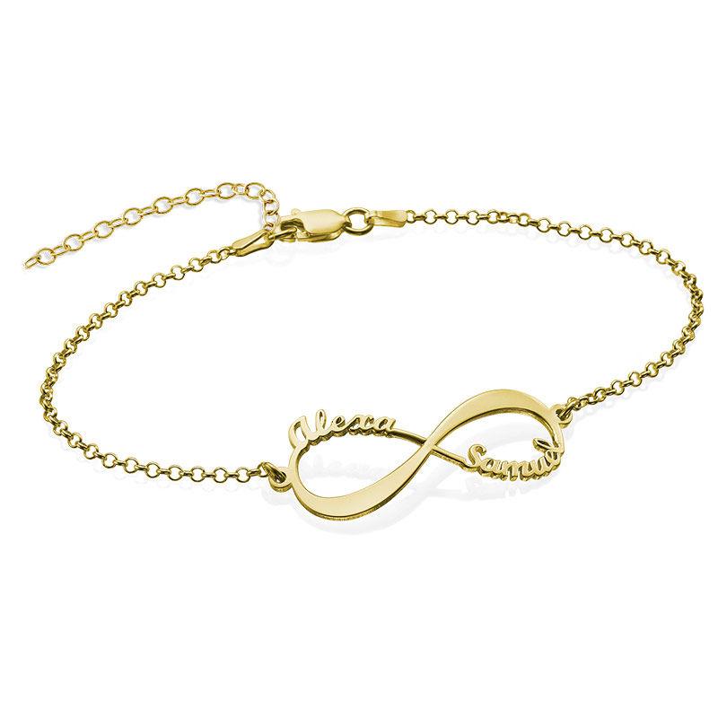 Infinity-armbånd med navn - 18K gullbelegg