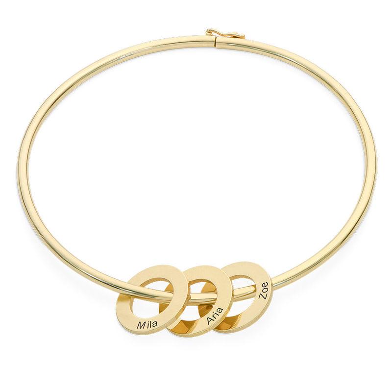 Bangle-armbånd med runde anheng i gullbelegg - 1