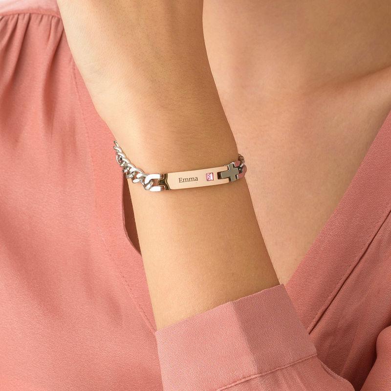 Personlig id armbånd for kvinner i rustfritt stål - 2