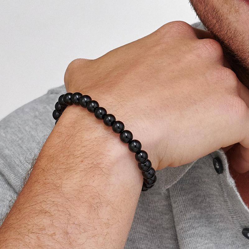 Lavastein armbånd til menn - 2
