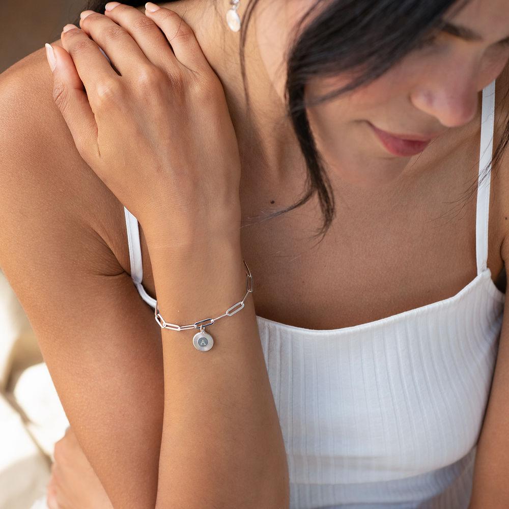 Odeion lenke armbånd/ankelkjede med initial i sølv - 1