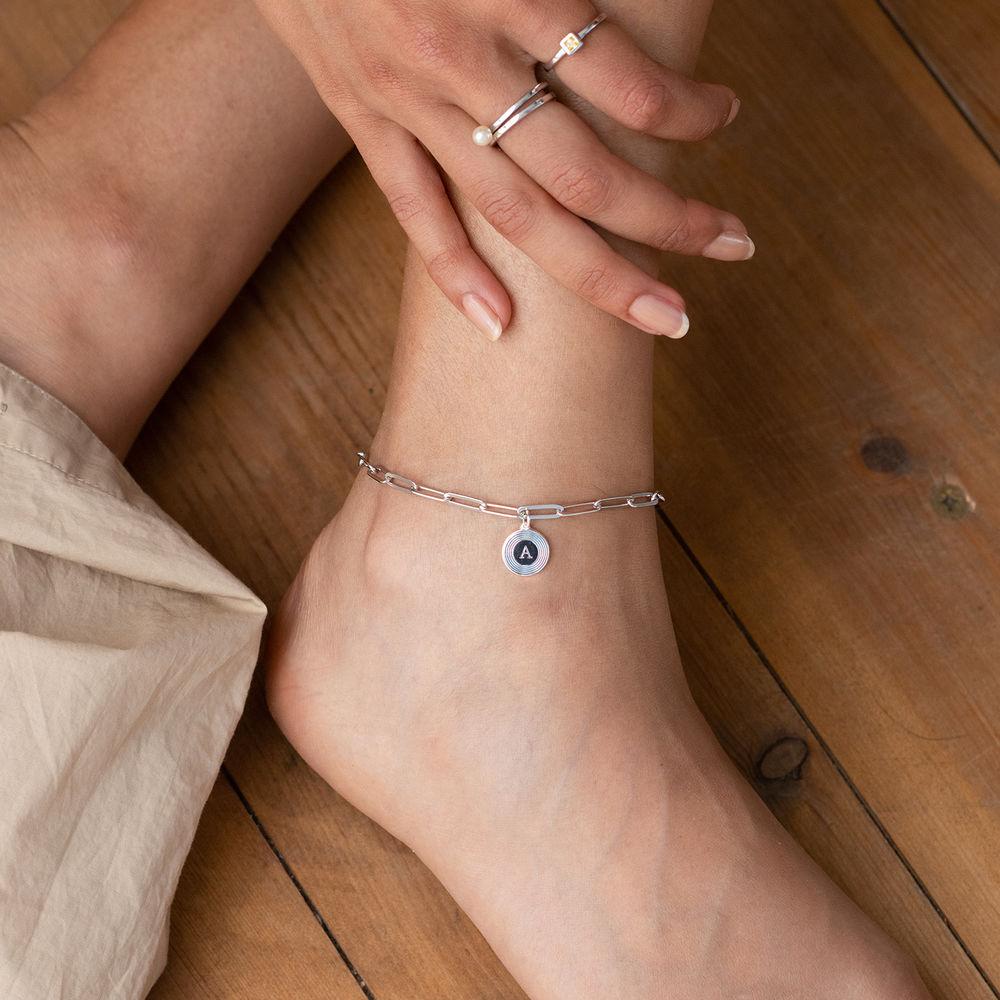 Odeion lenke armbånd/ankelkjede med initial i sølv - 2