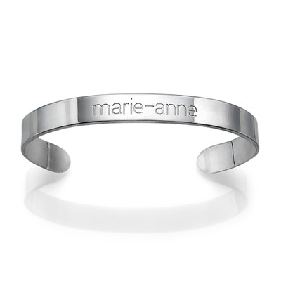 Personlig bangle armbånd i sølv