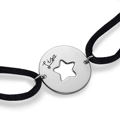 Utskåret stjernearmbånd i sølv - 1