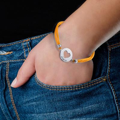Personlig hjertearmbånd i sølv - 1