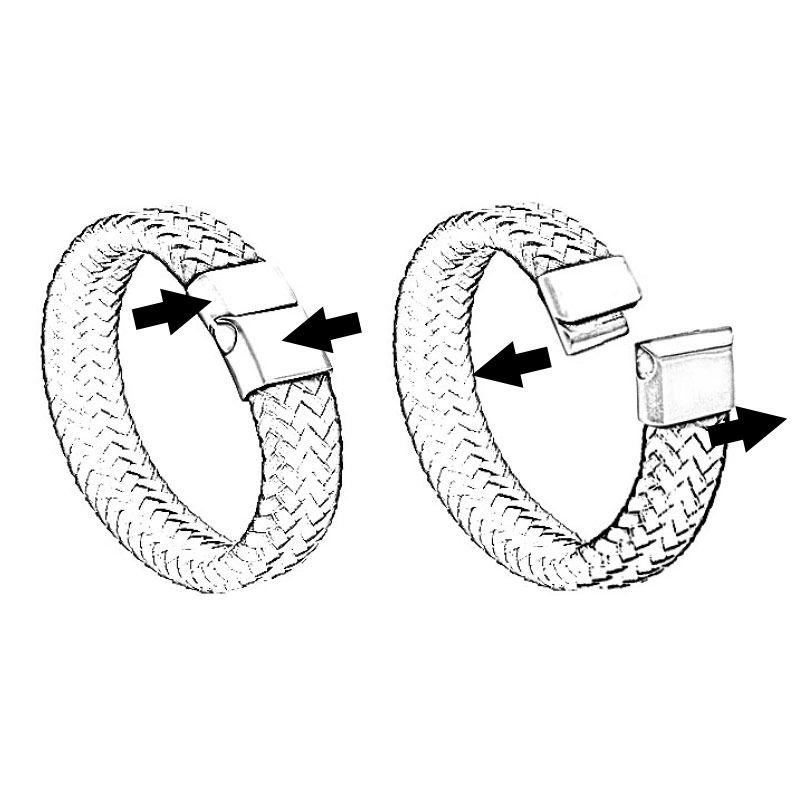 Lærarmbånd til menn med bokstaver - 5