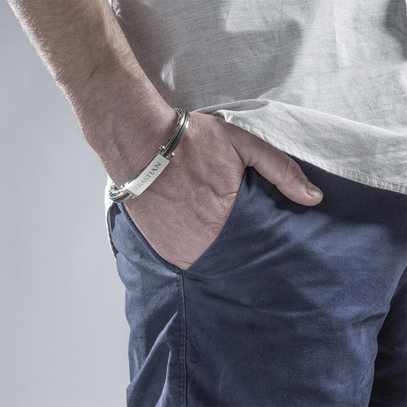 Gravert armbånd for menn i rustfritt stål - 3