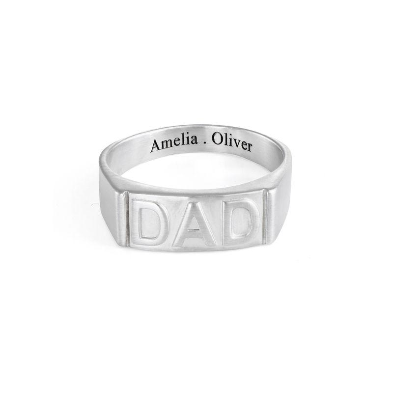 Pappa ring med gravering på innsiden i sølv - 1