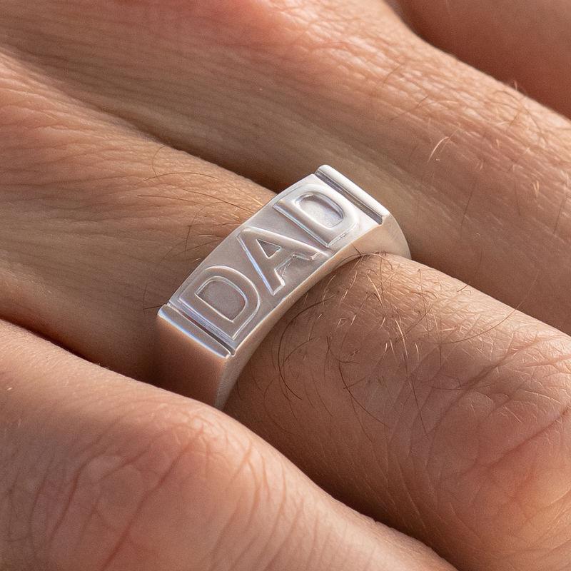 Pappa ring med gravering på innsiden i sølv - 3
