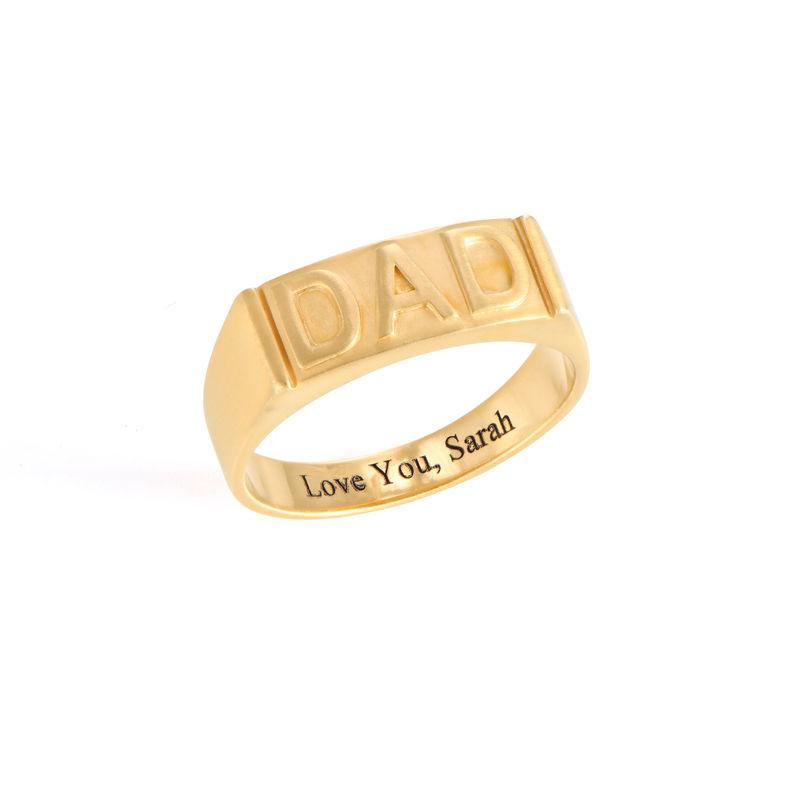 Pappa ring med gravering på innsiden i gullforgylt
