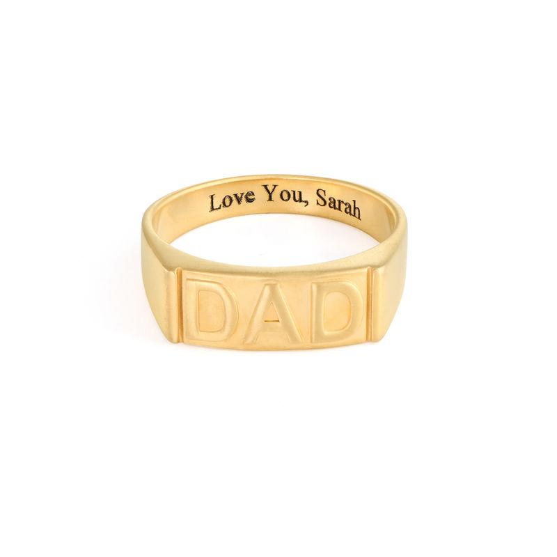 Pappa ring med gravering på innsiden i gullforgylt - 1