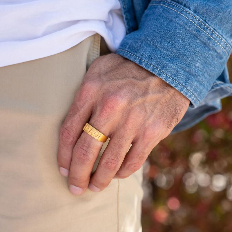 Pappa ring med gravering på innsiden i gullforgylt - 2