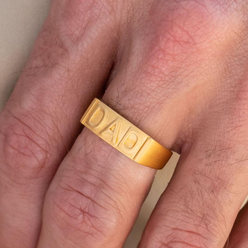 Pappa ring med gravering på innsiden i gullforgylt - 3