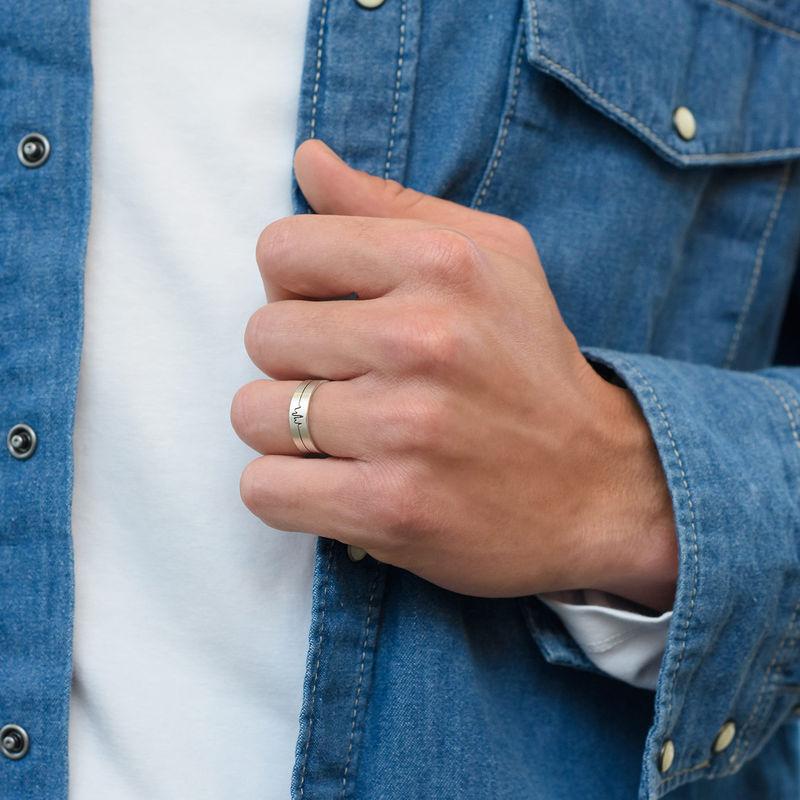 Heartbeat par ringer i sølv - 3