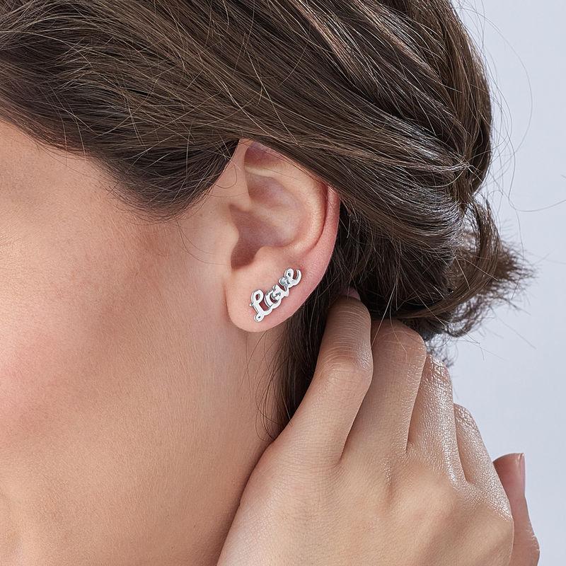 Personlige Ear Climbers i Sølv - 3