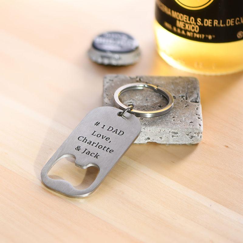Personlige Flaskeåpner Nøkkelring - 2