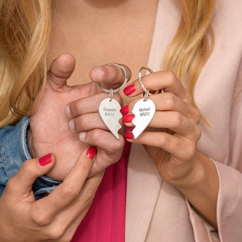 Todelt Hjertenøkkelring - 2