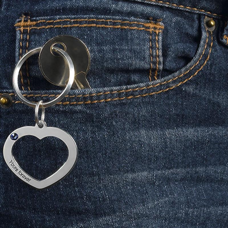 Nøkkelring med hjerte for par - 4