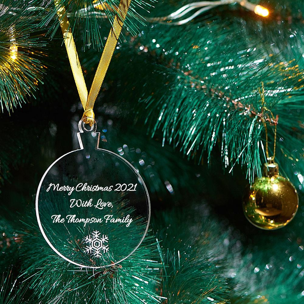 Personlig julepynt med snøfnugg - 2