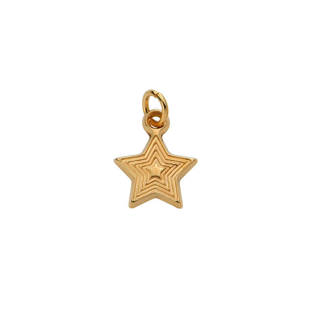 Stjerne Charms til Linda Familiesmykke i 18k gullbelagt sølv