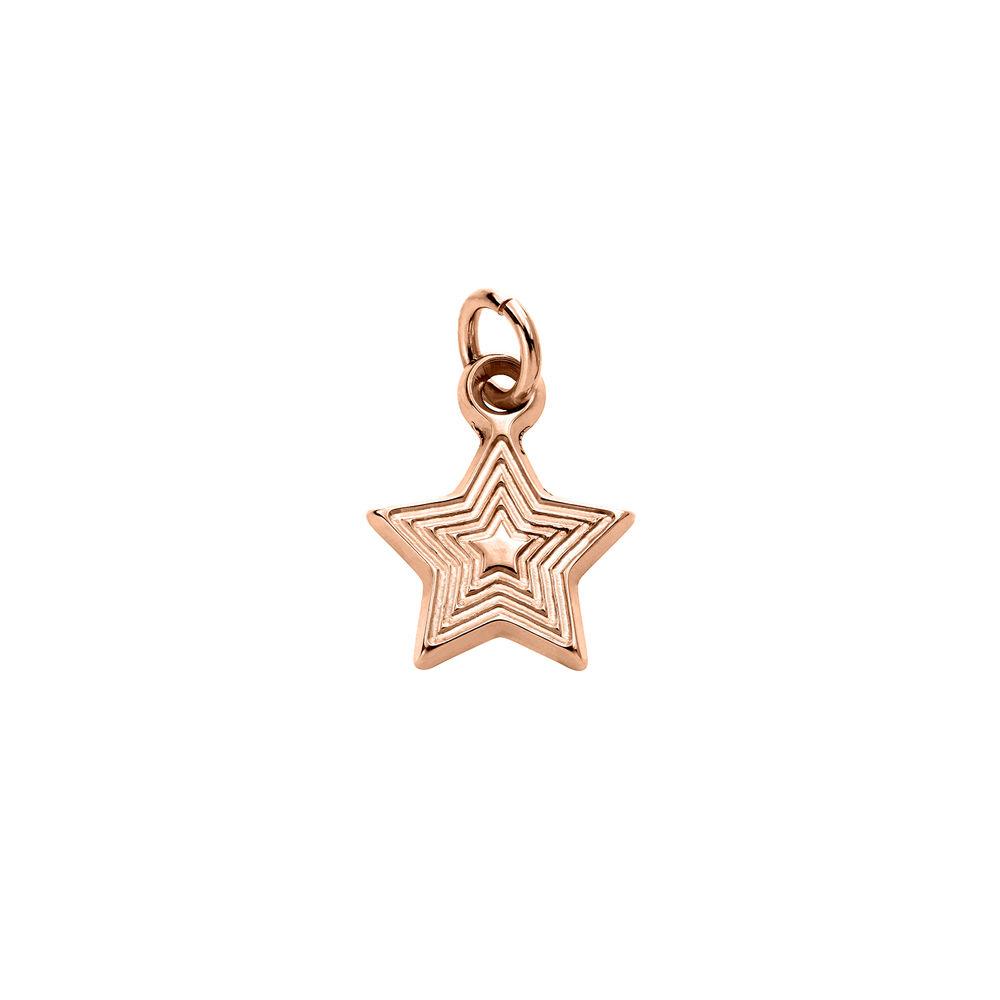 Stjerne Charms til Linda Familiesmykke i 18k rosegullbelagt sølv