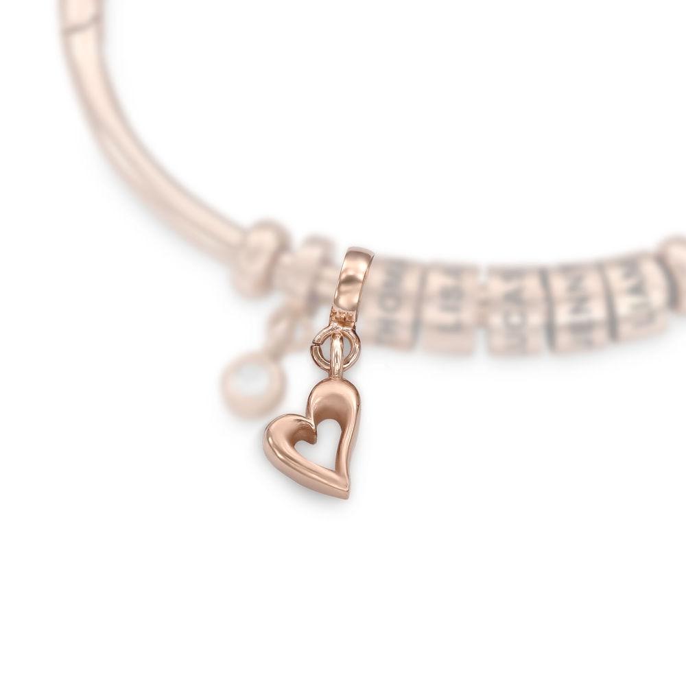 Hjerte Charm til Linda Familiesmykke i 18k rosegullbelagt sølv