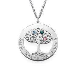 Rundt Livstre smykke med månedssteiner product photo