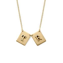Personlig bokstavsmykke i gullbelegg product photo
