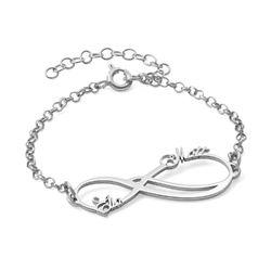 Infinity armbånd med navn produktbilde