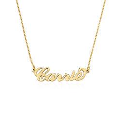 """Lite """"Carrie""""-navnesmykke i gull-vermeil sølv produktbilde"""