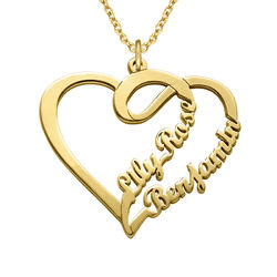 Hjerte smykke for par med gullbelegg - Yours Truly-kolleksjonen product photo