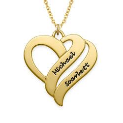 Two hearts forever one-smykke med 18k gullbelegg product photo