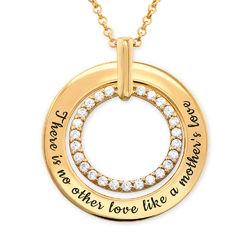Gravert smykke med sirkel i gullbelegg product photo