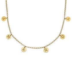 Choker-smykke med bokstav i gullbelegg product photo