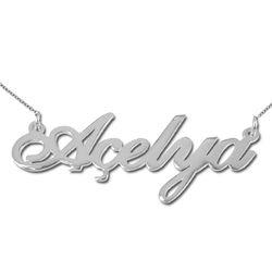 isim kolye - Tyrkisk navnesmykke i sølv produktbilde