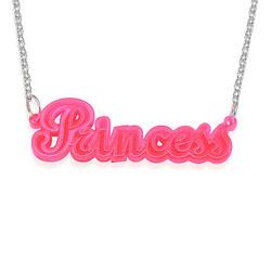 Neon Rosa! Navnesmykke produktbilde