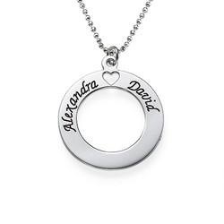 Circle of Love-smykke i sølv produktbilde