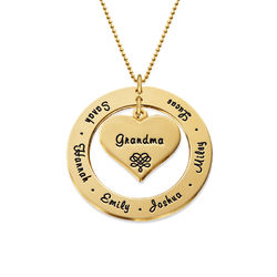Bestemorsmykke i 10K gull produktbilde