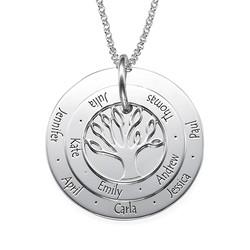 Personlig mamma smykke – Familietre halskjede produktbilde