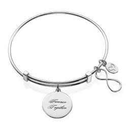Infinity-armbånd med charms produktbilde
