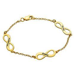 Multi infinity armbånd i gull-vermeil product photo