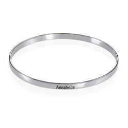 Gravert armbånd i sølv produktbilde