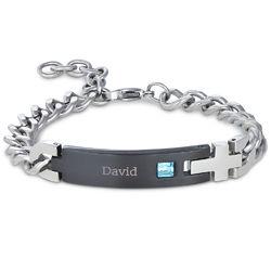 ID-armbånd i rustfritt stål til menn produktbilde