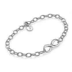 Evighetsarmbånd i sølv produktbilde
