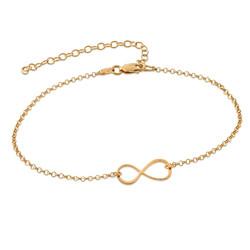 Infinity-armbånd med gullbelegg produktbilde
