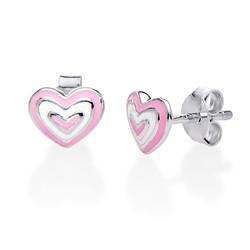 Rosa Hjerteøredobber produktbilde