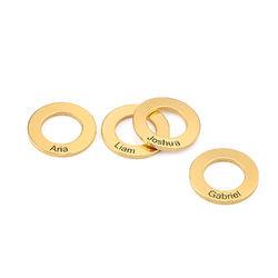 Runde anheng til bangle-armbånd i gullforgylt sølv produktbilde